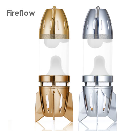 Fireflow lava lamp base and cap