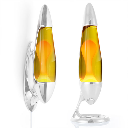 Neo Lava lamp bottle - Yellow with Orange Lava